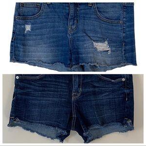 MOSSIMO cutoff denim shorts size 4 blue